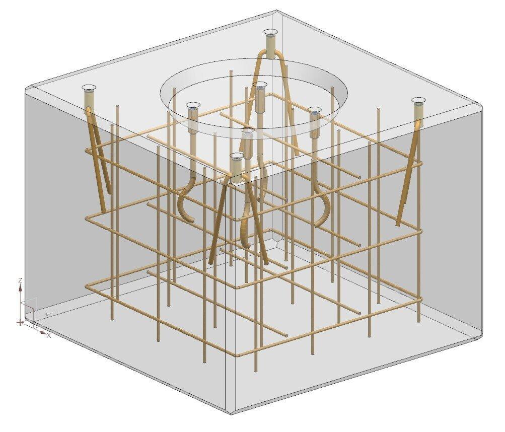 Maschinenfundament CAD