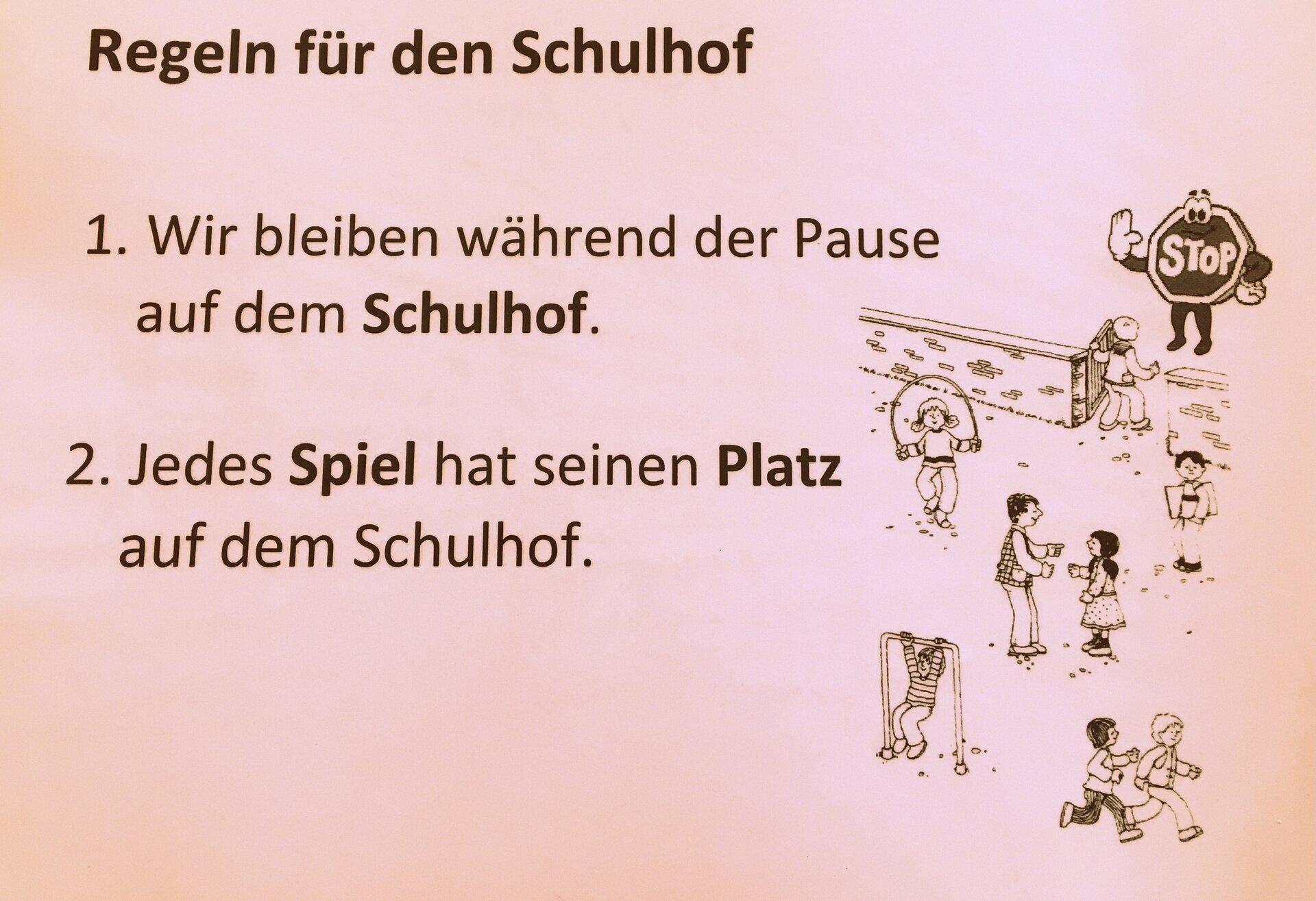 Schulhofregeln