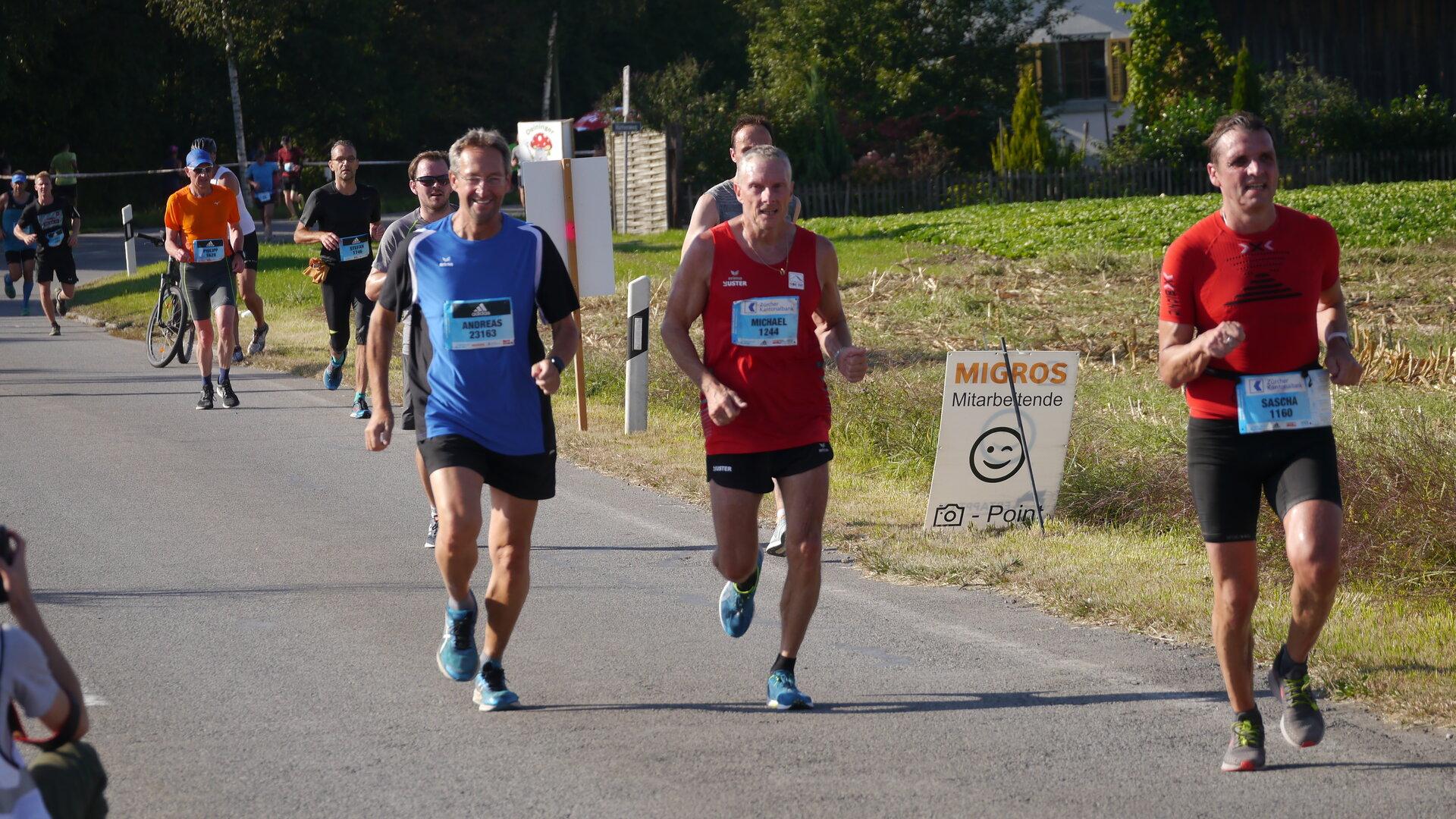 Andreas Ehrke (links) TSV 62 Prenzlau e.V. und Michael Billich (rechts) LC Uster