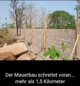 voranschreitender Mauerbau