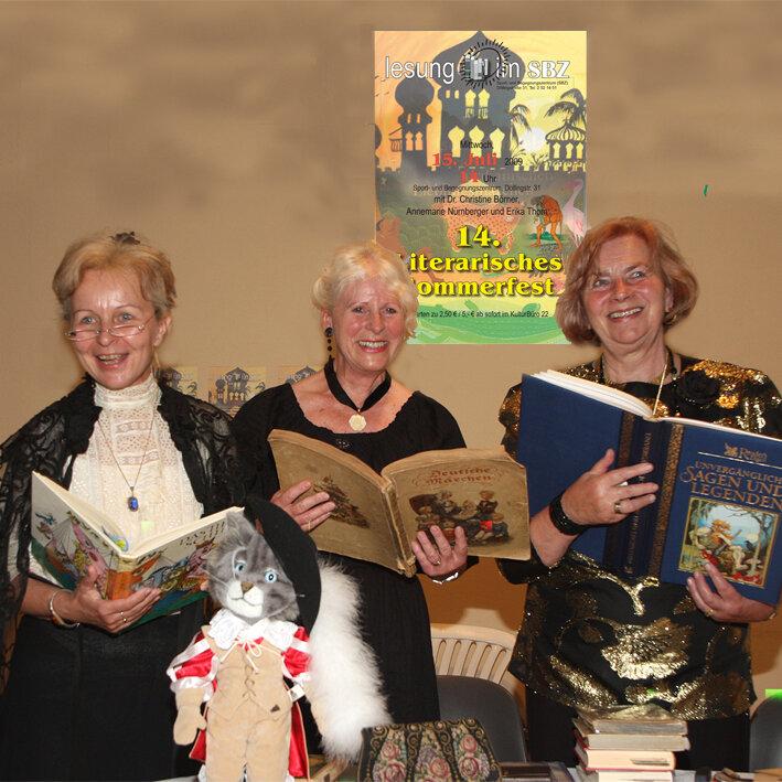 Aktive Senioren Leipzg -Literarisches Sommerfest als Höhepunkt jährlicher Lesungen Börner Thom Nürnberger