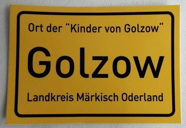 Golzow (Oderbruch), Aufkleber