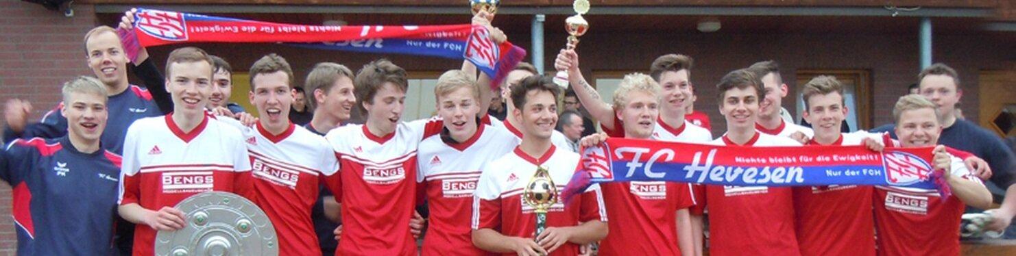 Aufstieg der A-Junioren in die Bezirksliga 2016.