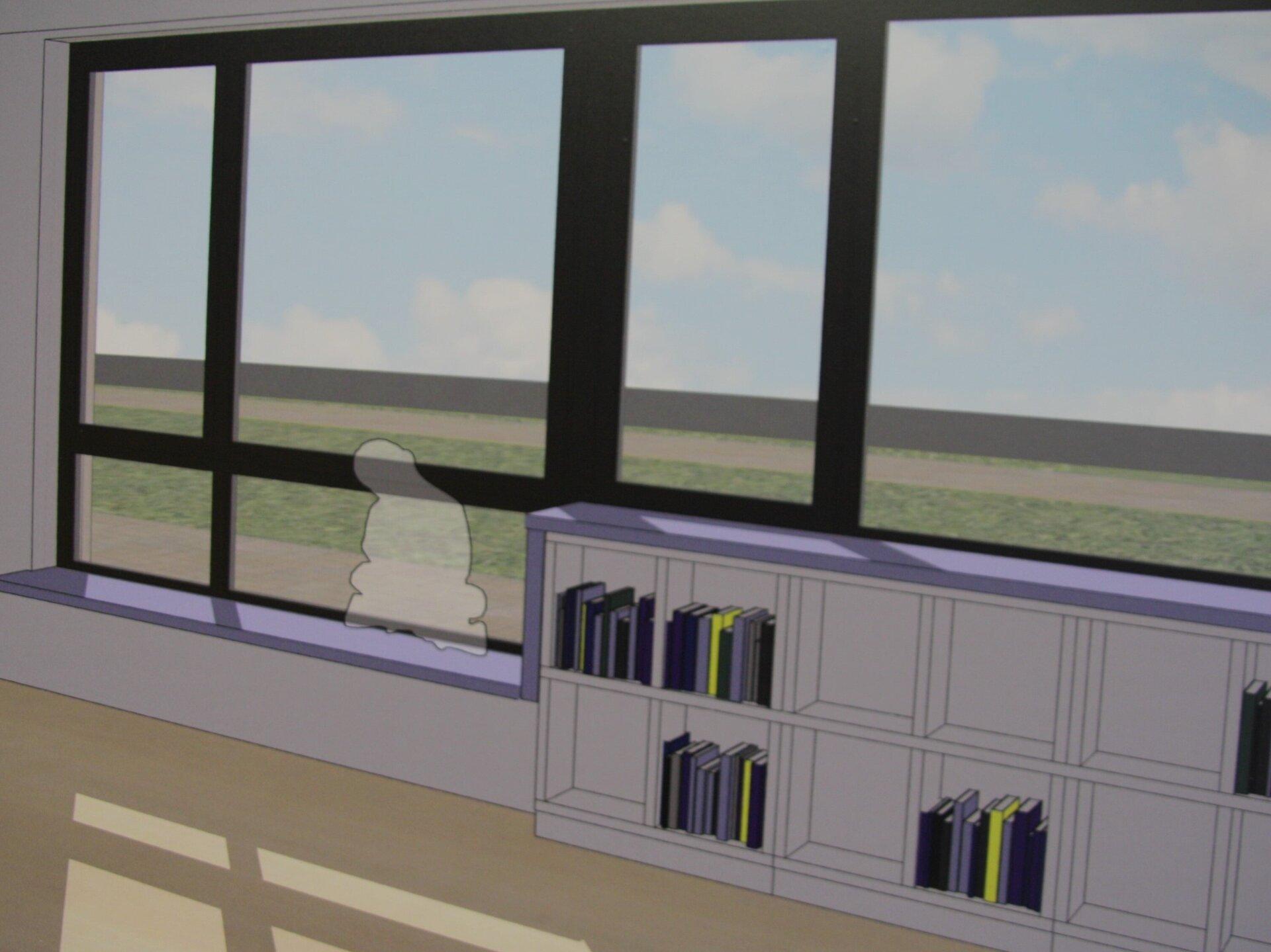 Schule: Unterrichtsräume-Fenster