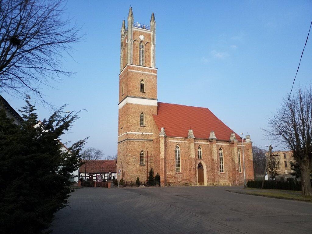 Die Johanniterkirche zu Sonnenburg, heute Pfarrkirche der Heiligen Mutter Gottes zu Tschenstochau in Slonsk (Polen)