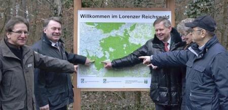 Eröffnung Naturlehrpfad mit Minister Brunner und Karl Freller