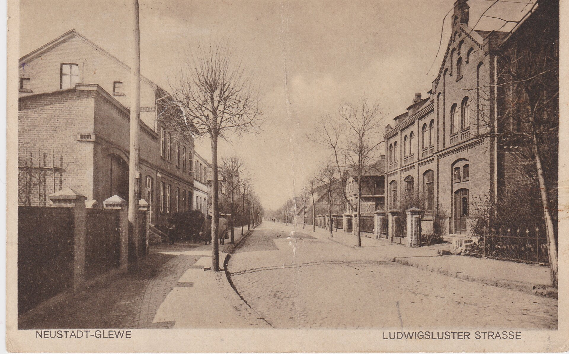 Ludwigsluster Strasse, Anfang 1930er Jahre, Blick in Richtung Stadtausgang nach Ludwigslust