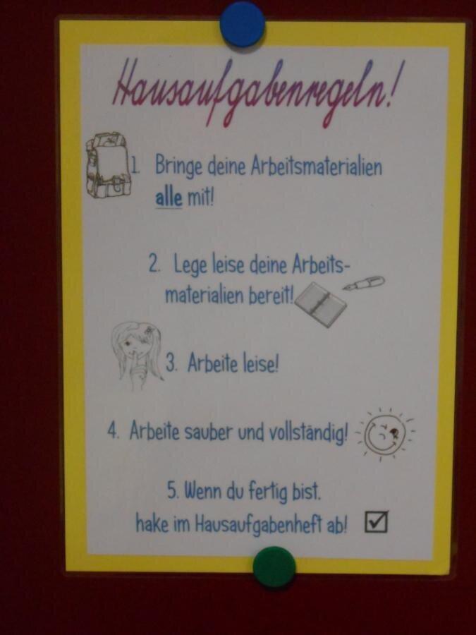 Hausaufgabenregeln