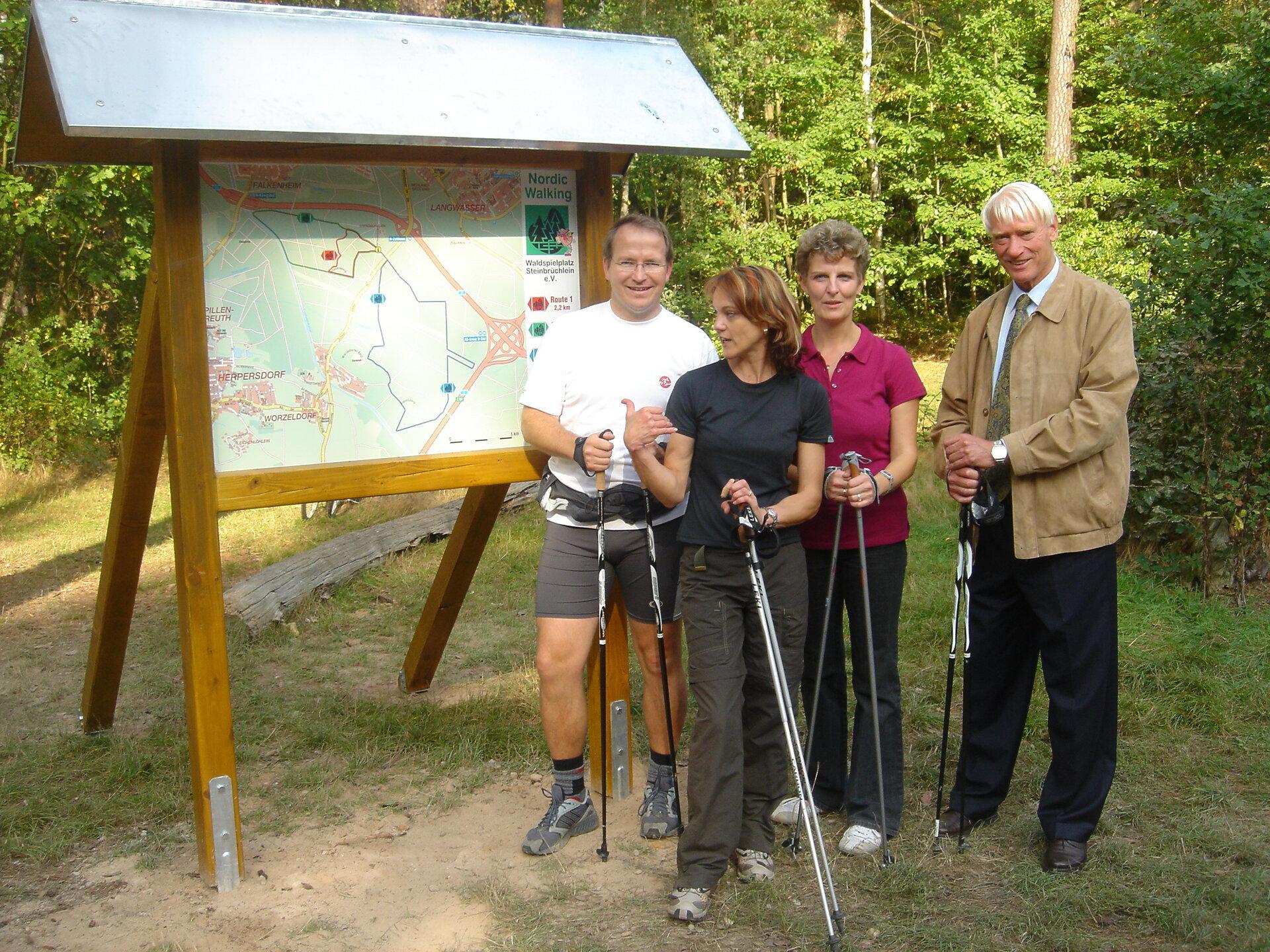 Eröffnung Nordic Walking
