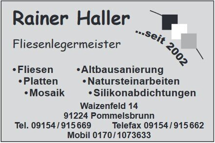 Fliesenleger Rainer Haller
