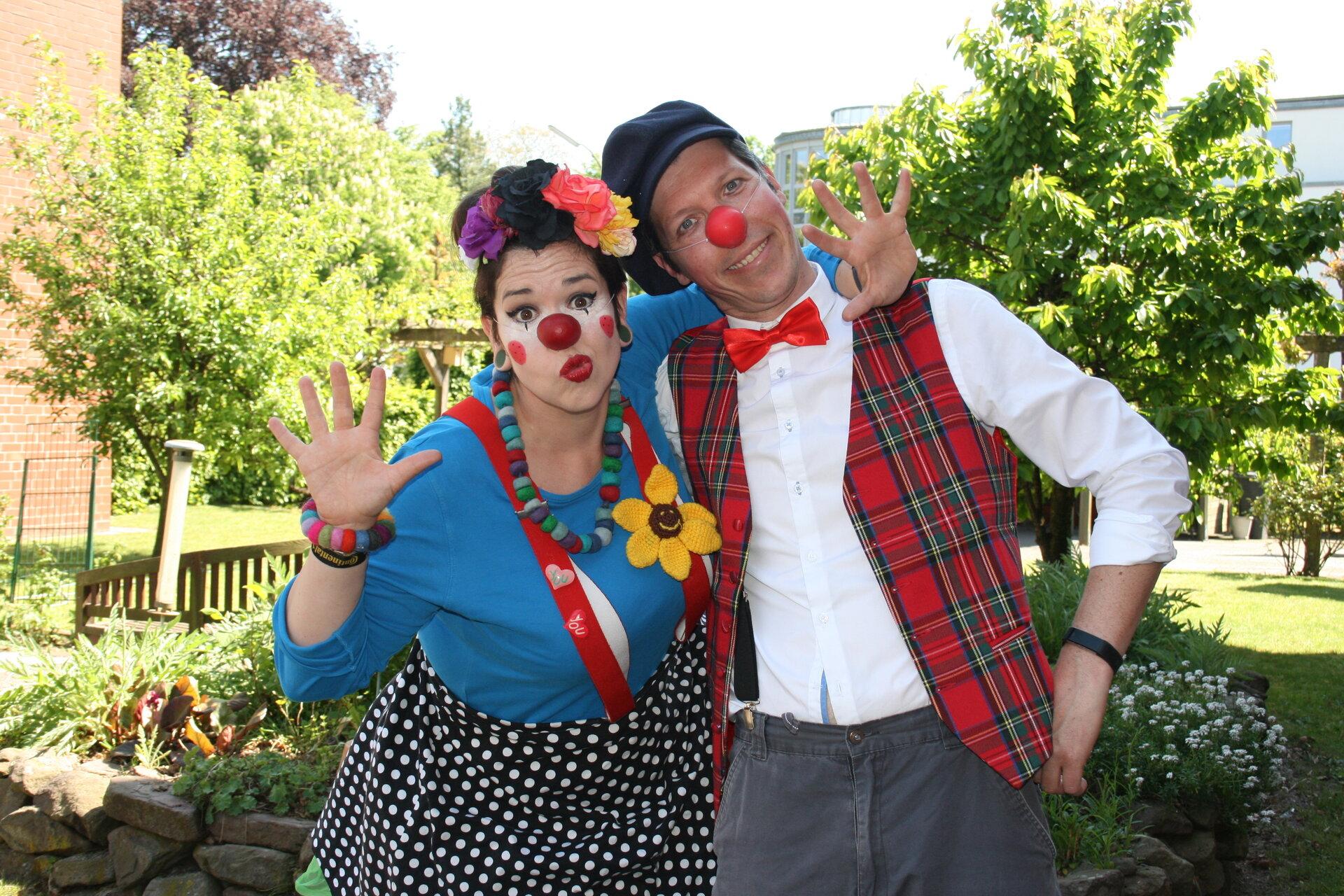 Clown Mimi und Friedrich. Foto: Bürgerstiftung WML