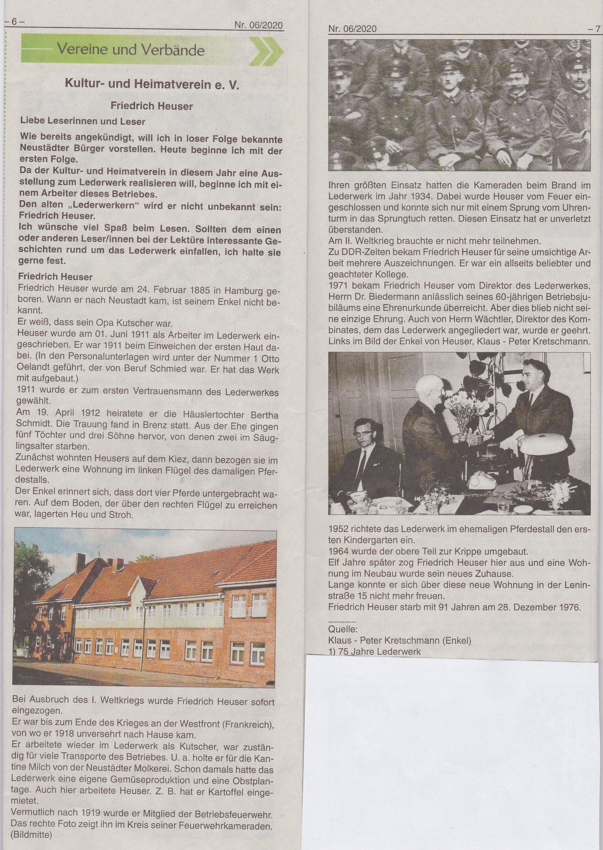 Artikel, Neustädter Anzeiger 06/2020