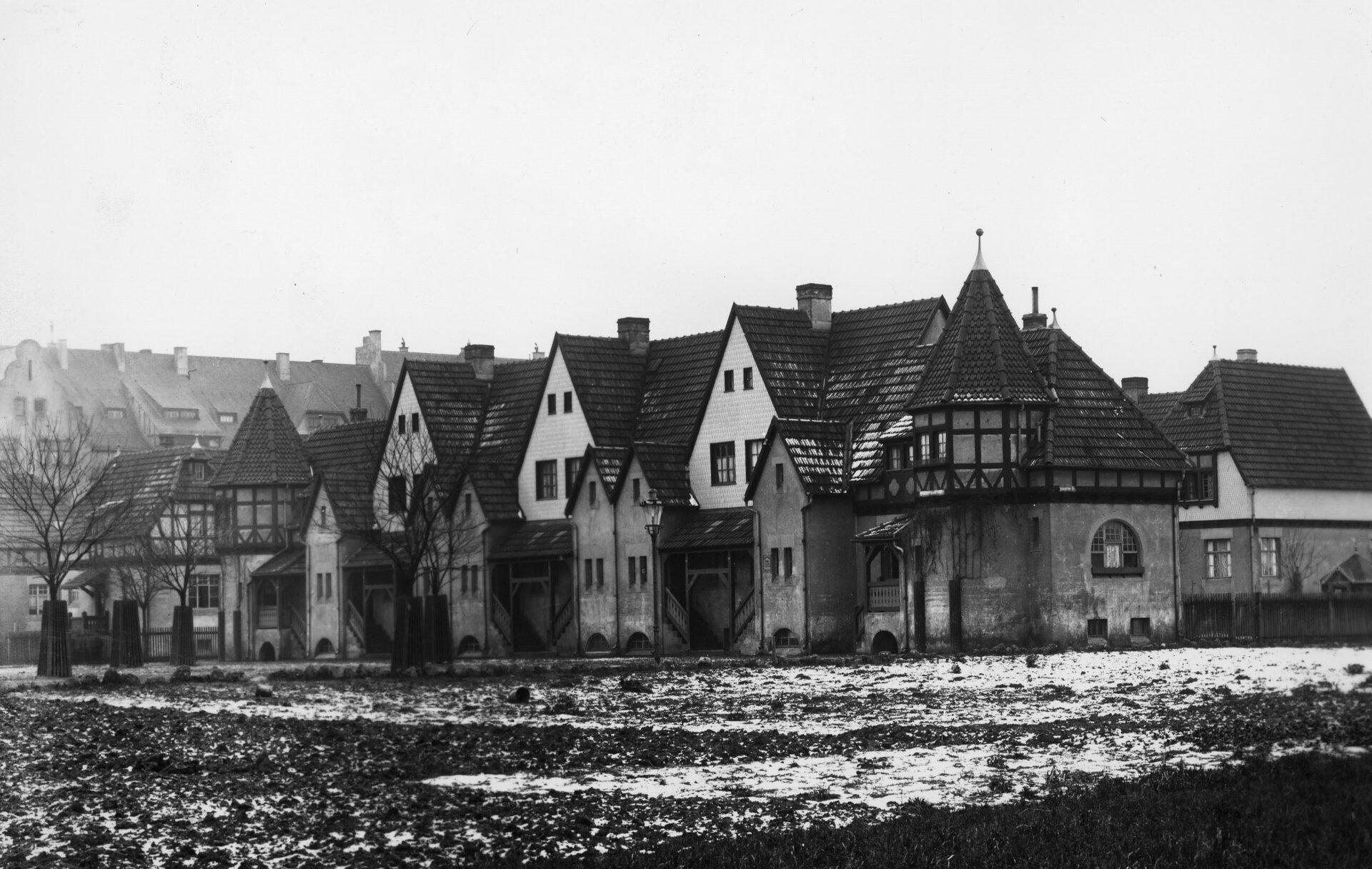 Abbildung zeigt den Cramer-Klett-Platz im Jahre 1928