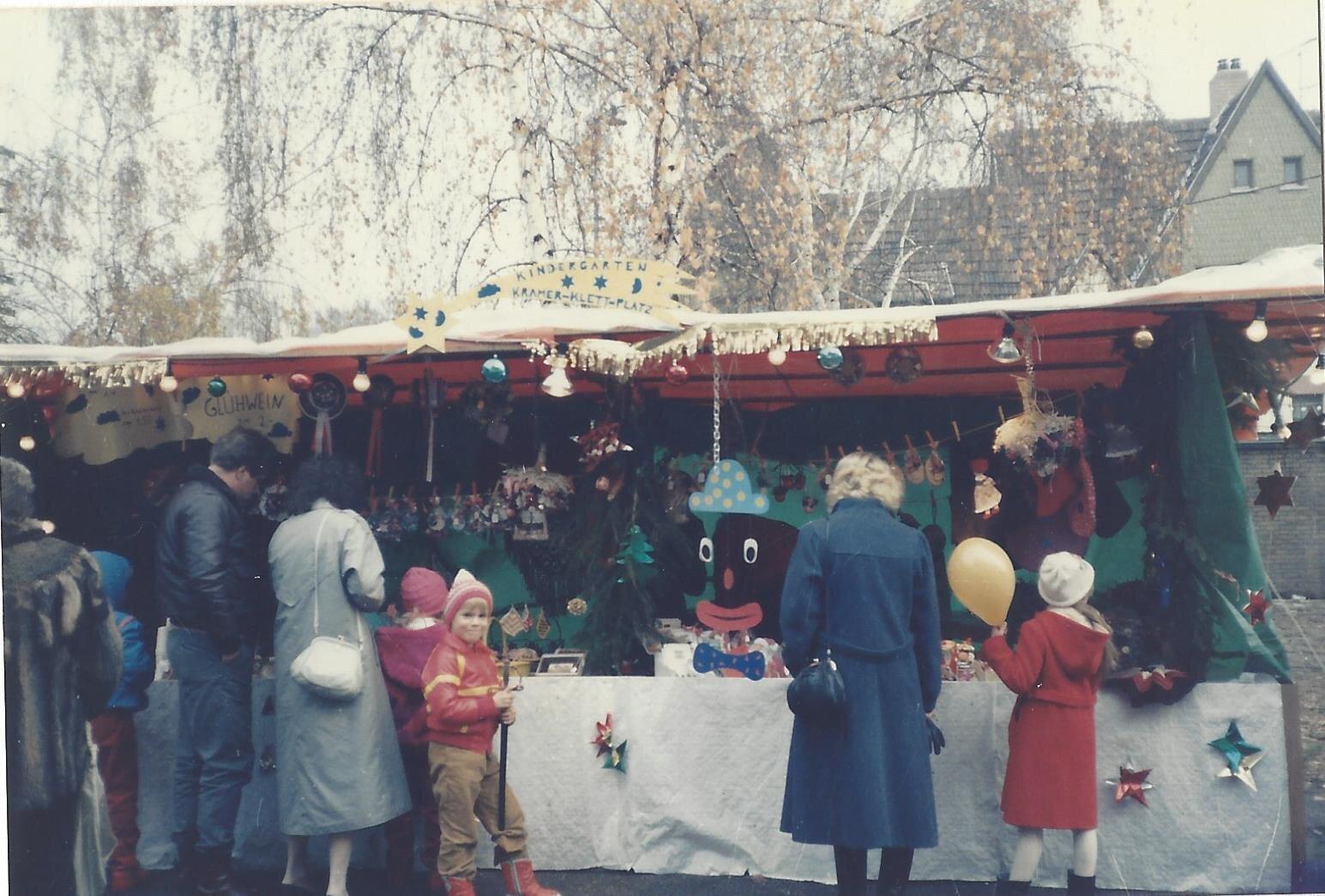 1. WM 1985 Stand des Kindergartens am Cramer-Klett-Platz