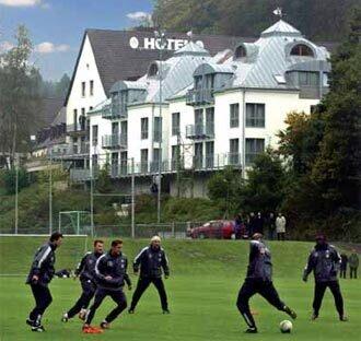 Profifußball im Sporthotel Fuchsbachtal
