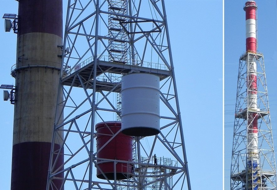Kamin DN 6000, Kraftwerk Danzig, Hersteller: Christen&Laudon, Montage:  Kurotec Polska