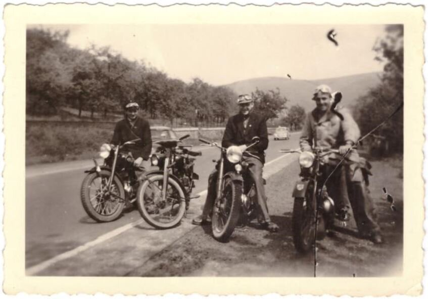Motorradfahren in den 50ern