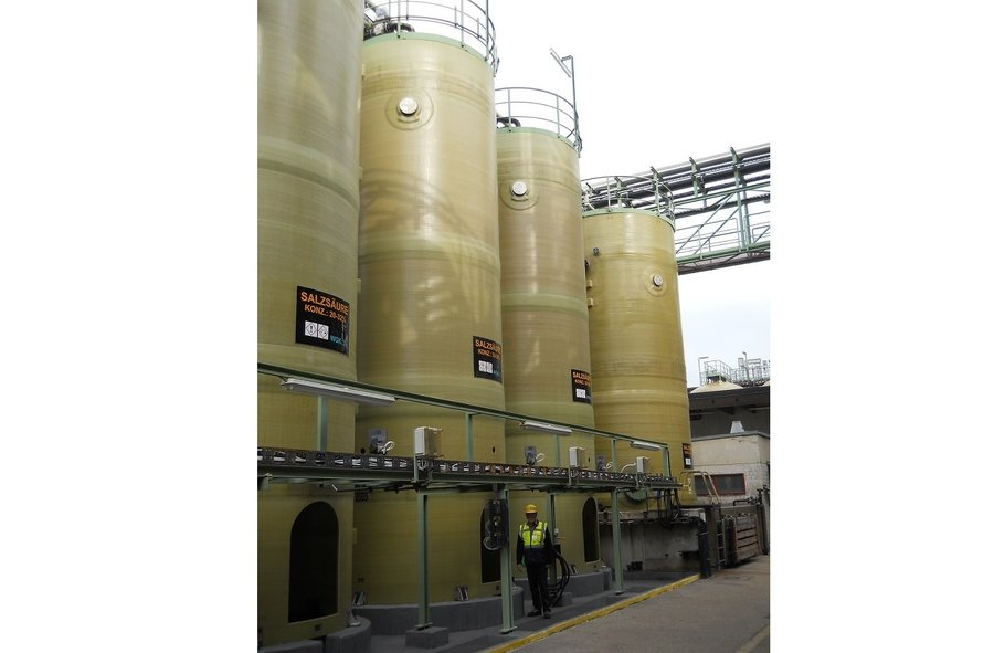 Tanks for hydro chloric acid