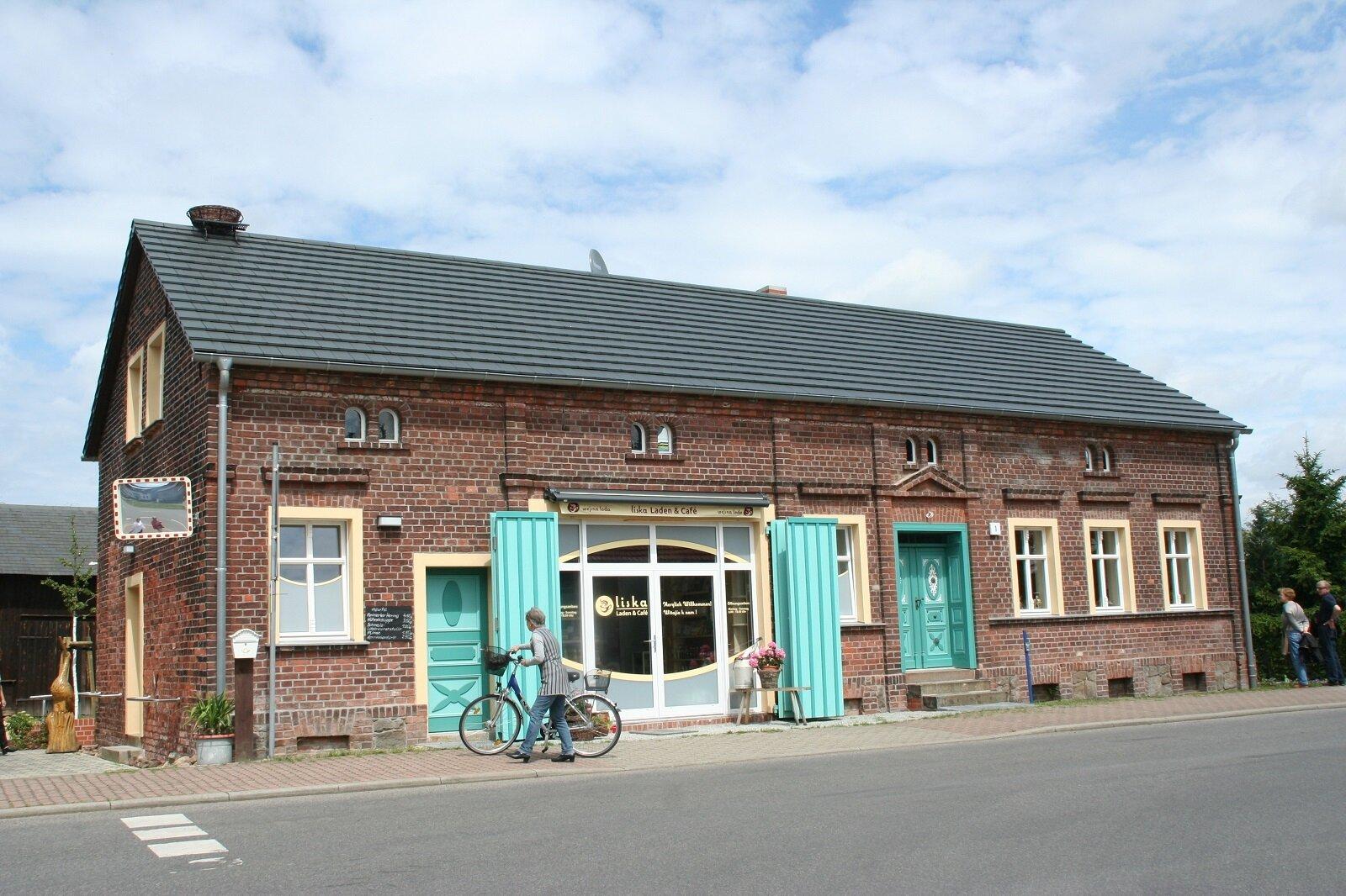 Spreeauenhof mit Eiscafé Liska
