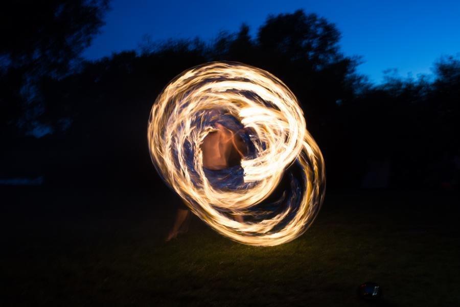 Atemberaubender Feuerzauber