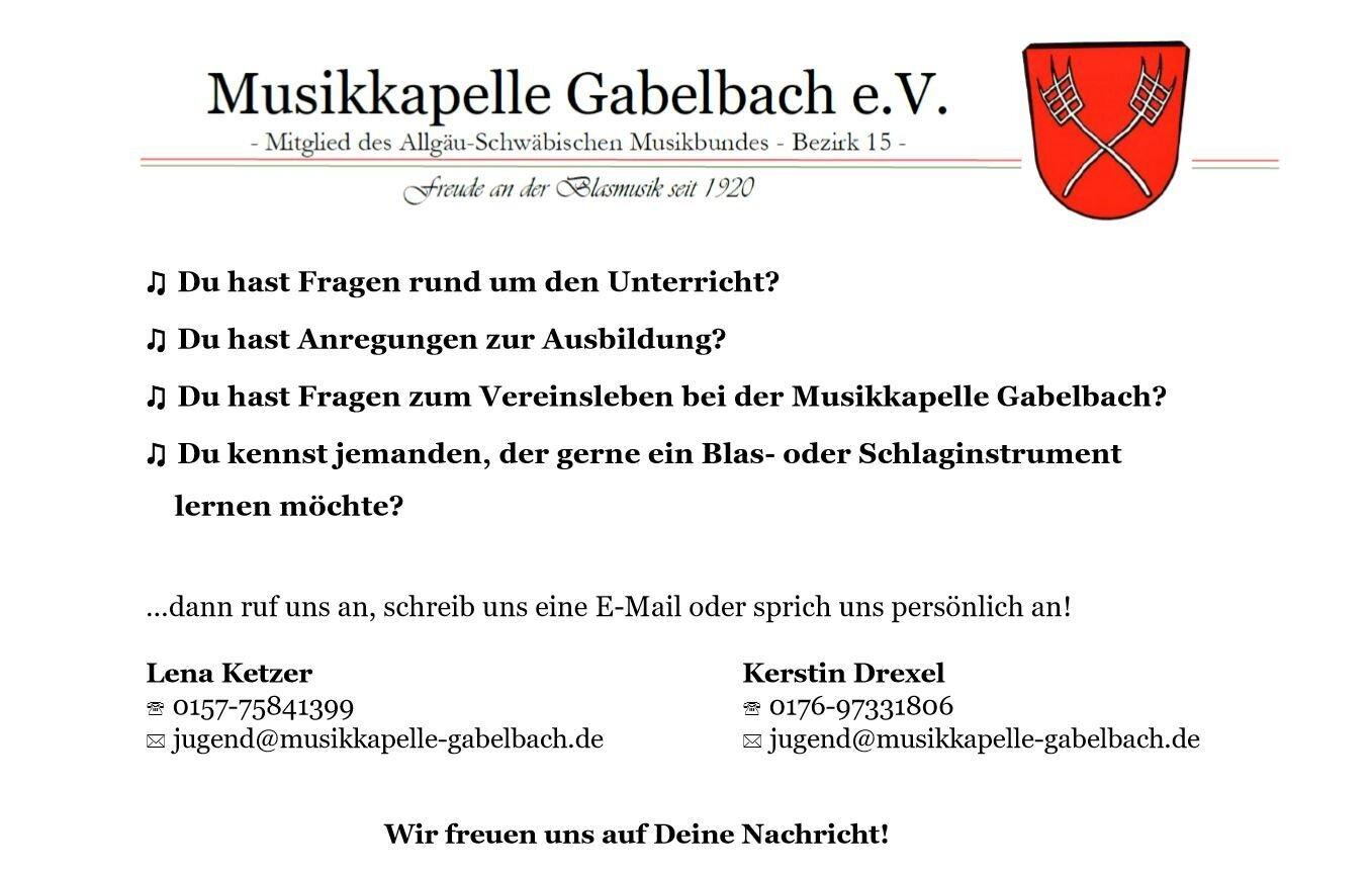 Ausbildung Musikkapelle Gabelbach