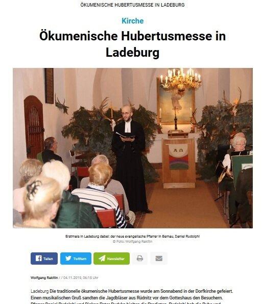 Ökumenische Hubertusmesse (c) Märkische Oderzeitung