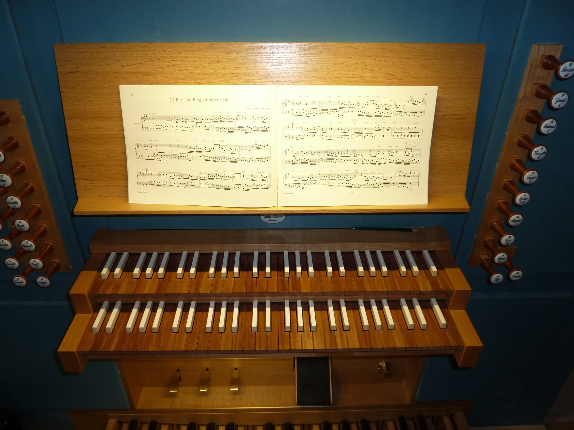 Orgel Spieltisch