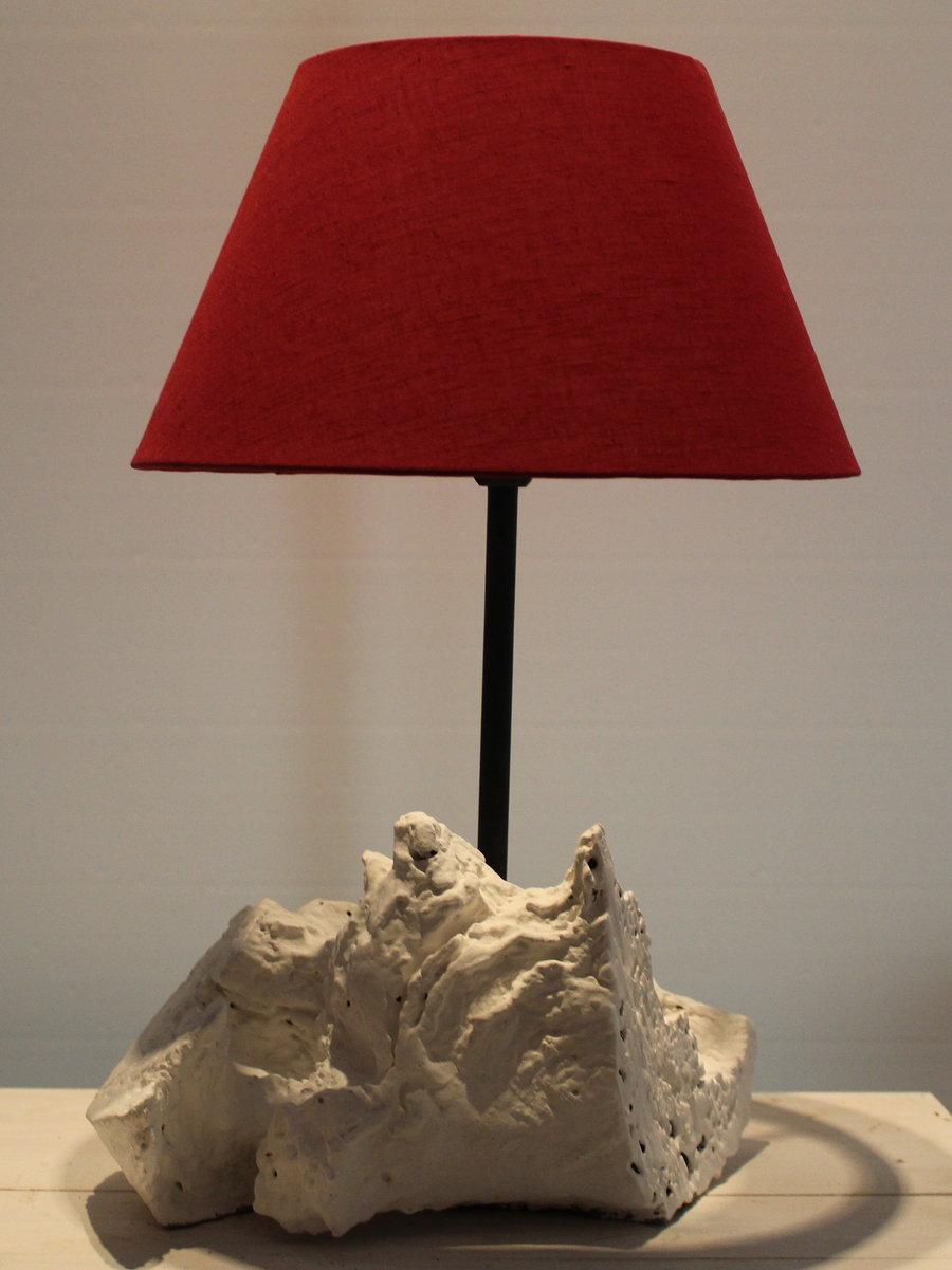 Lampe gekalkt