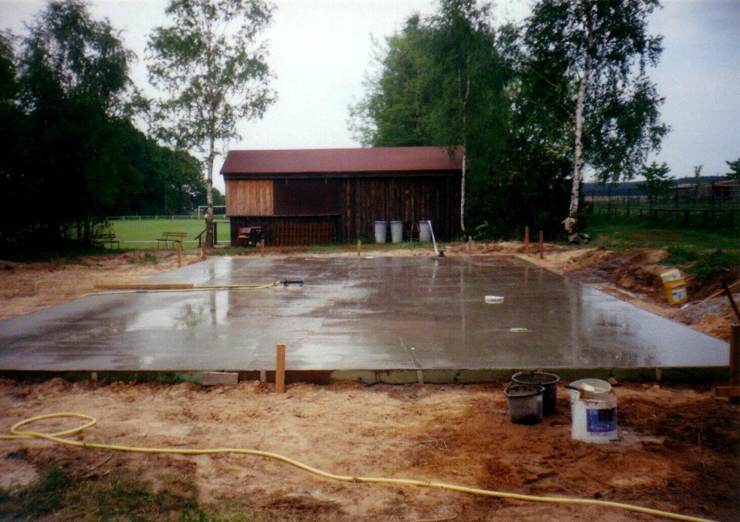 Grundplatte Sportlerheim Mai 2000