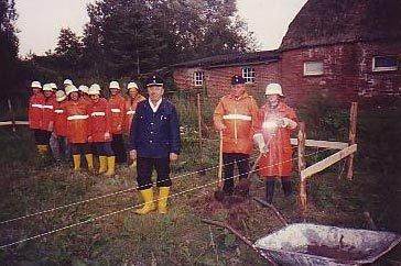 Feuerwehr 1991 Spatenstich