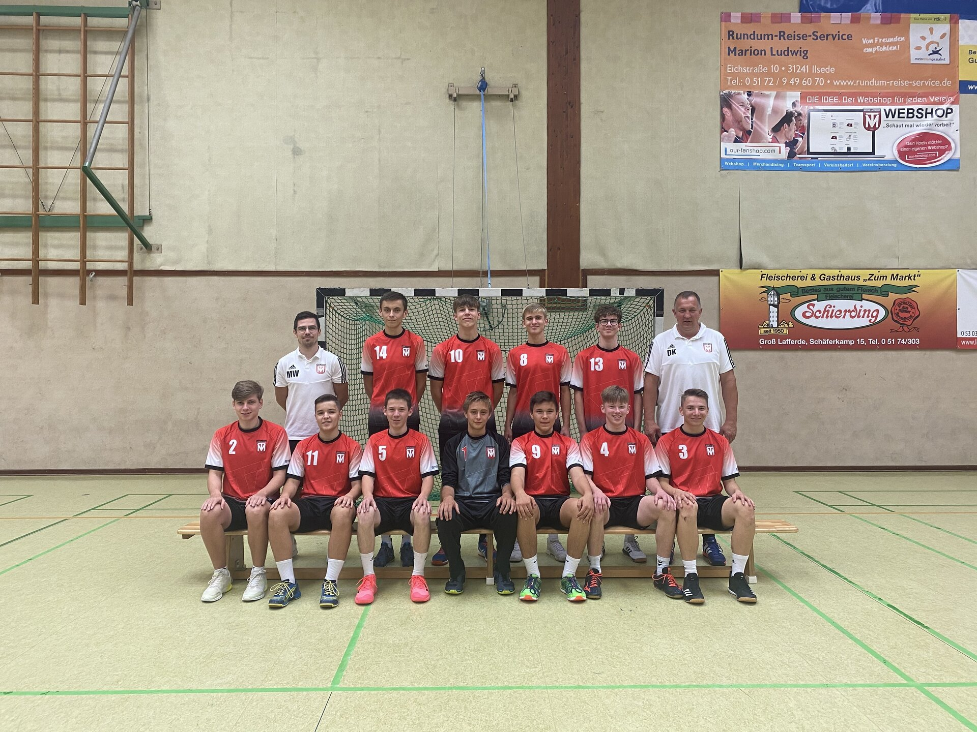 Mannschaftsfoto männliche B-Jugend 2020/2021