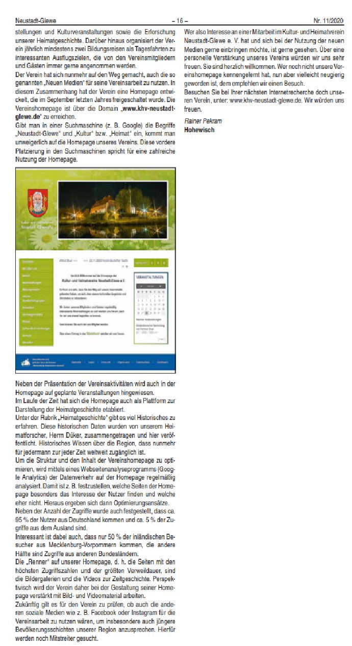 Neustädter Anzeiger, 11/2020, S. 16