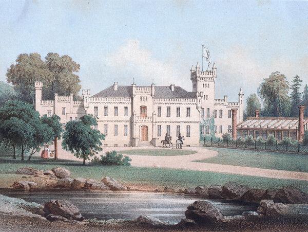 Schloss Damerow um 1860