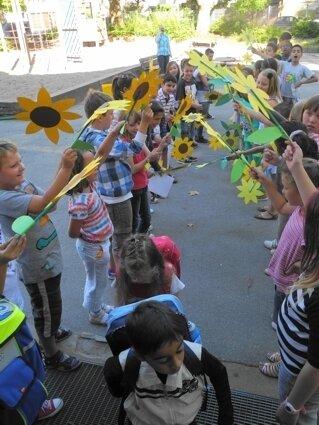 Begrüßung der Kinder