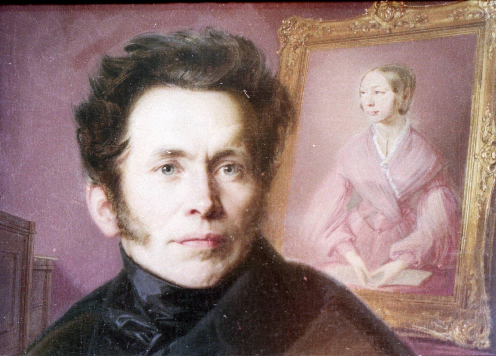 Carl Anwandter in jungen Jahren (Gemälde)