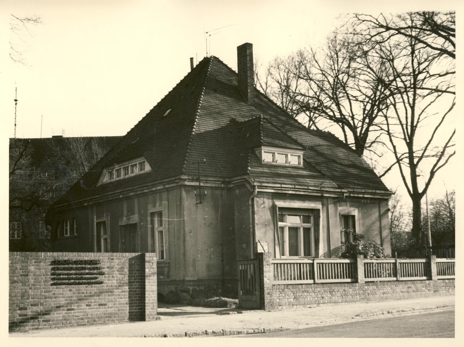 Geburtshaus von Joachim Gottschalk