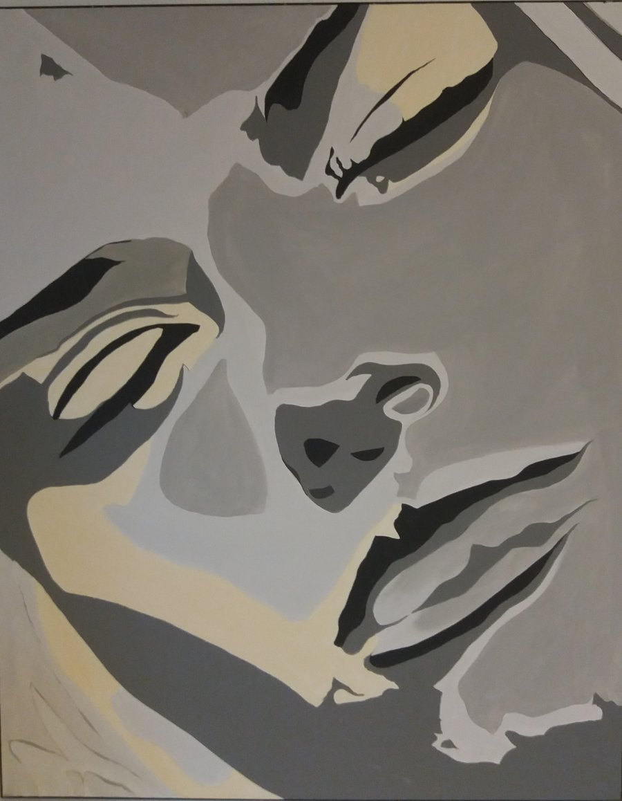 Sinnlich , 80 x 100 cm , Acryl auf Leinwand