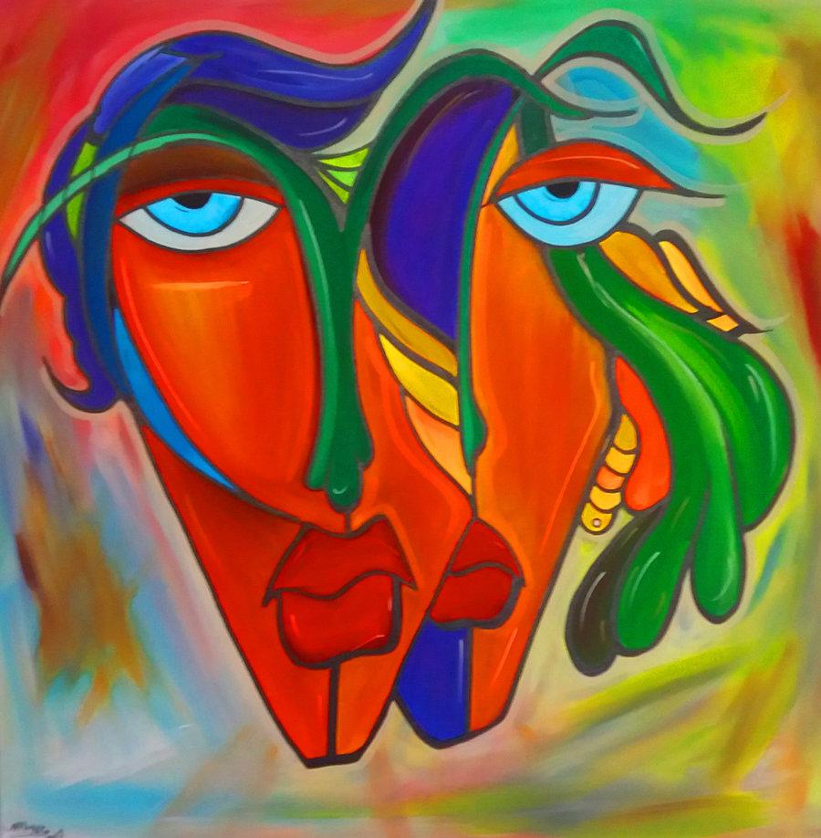 Ich und Du, 80 x 80 cm, Acryl auf Leinwand //SOLD//