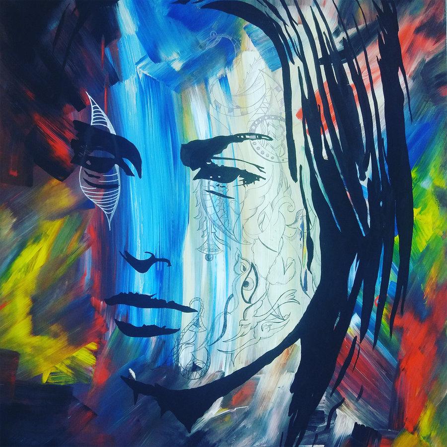 Dichotomie der Sinne, 100 x 80 cm , Acryl auf Leinwand , //SOLD//