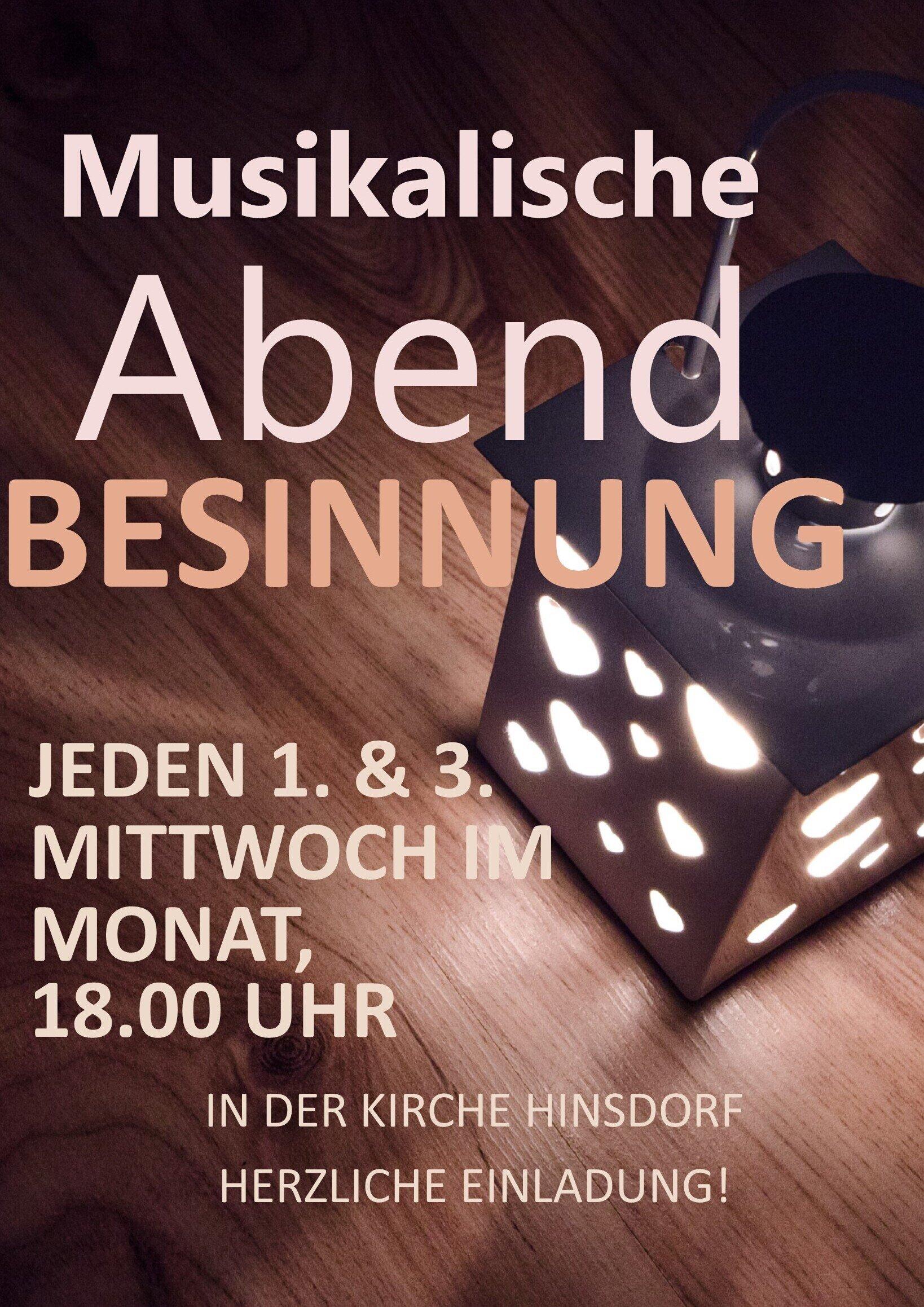Musikalische Abendbesinnung Hinsdorf