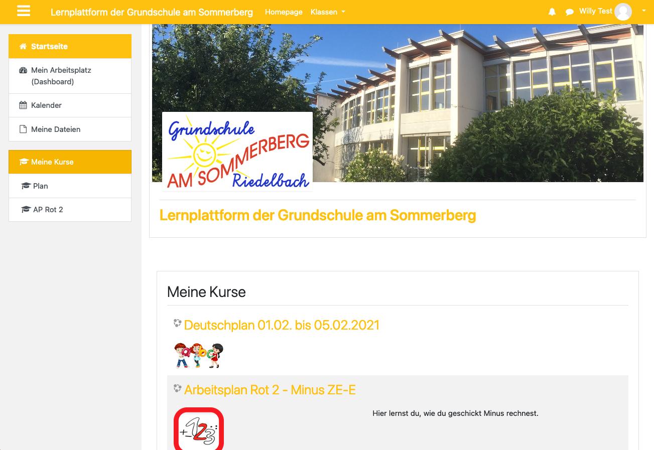 Lernplattform der Grundschule am Sommerberg