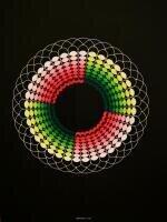 Zirkel und Pinsel kombiniert