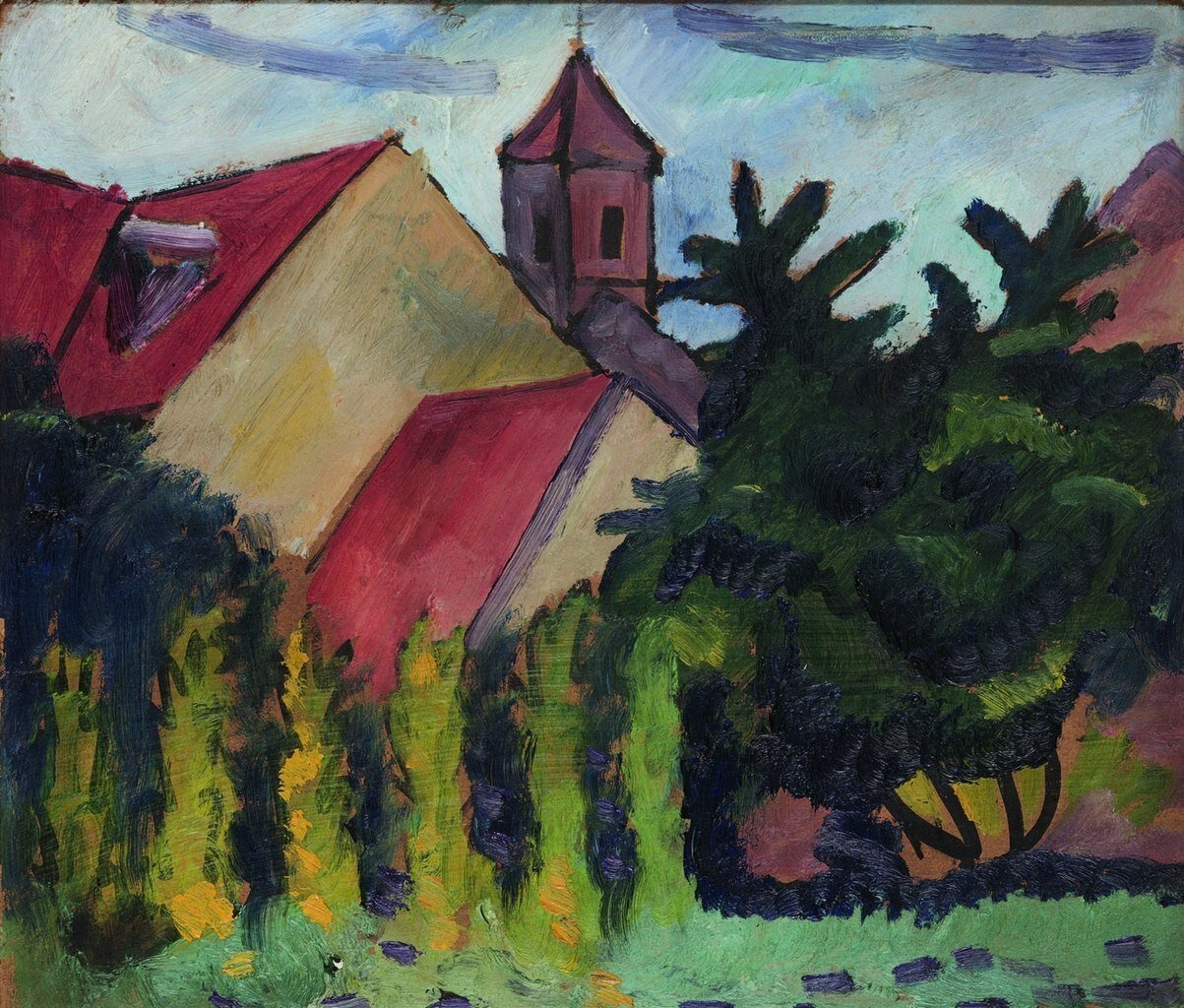August Macke. Kirche in Kandern. 1911