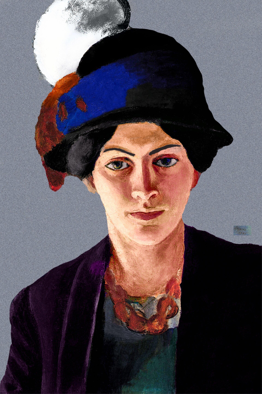 Frau des Künstlers mit Hut 1909