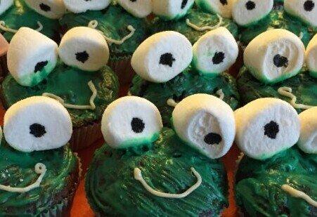 Froschköning Cupcake