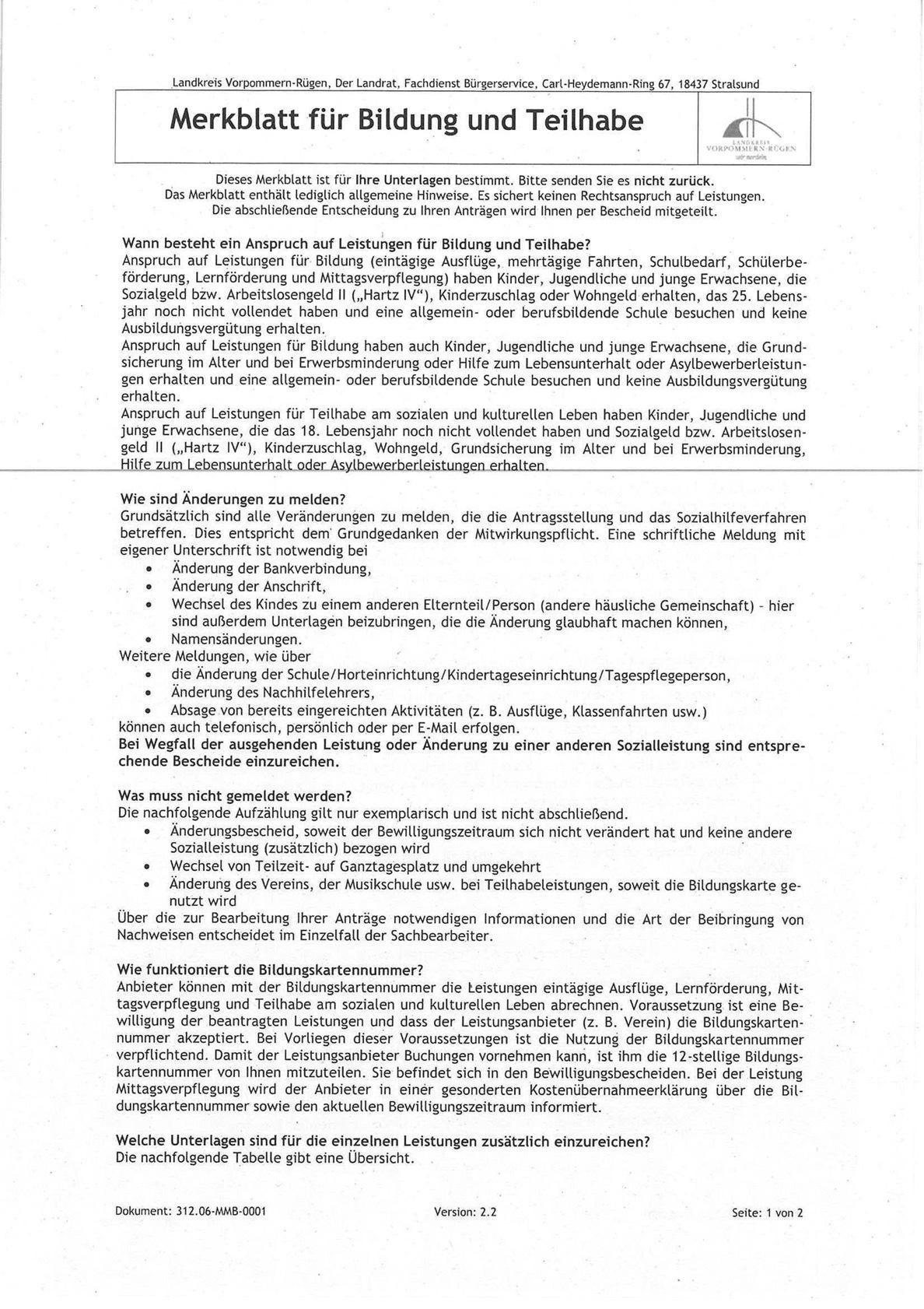 Antrag Bildung und Teilhabe 3
