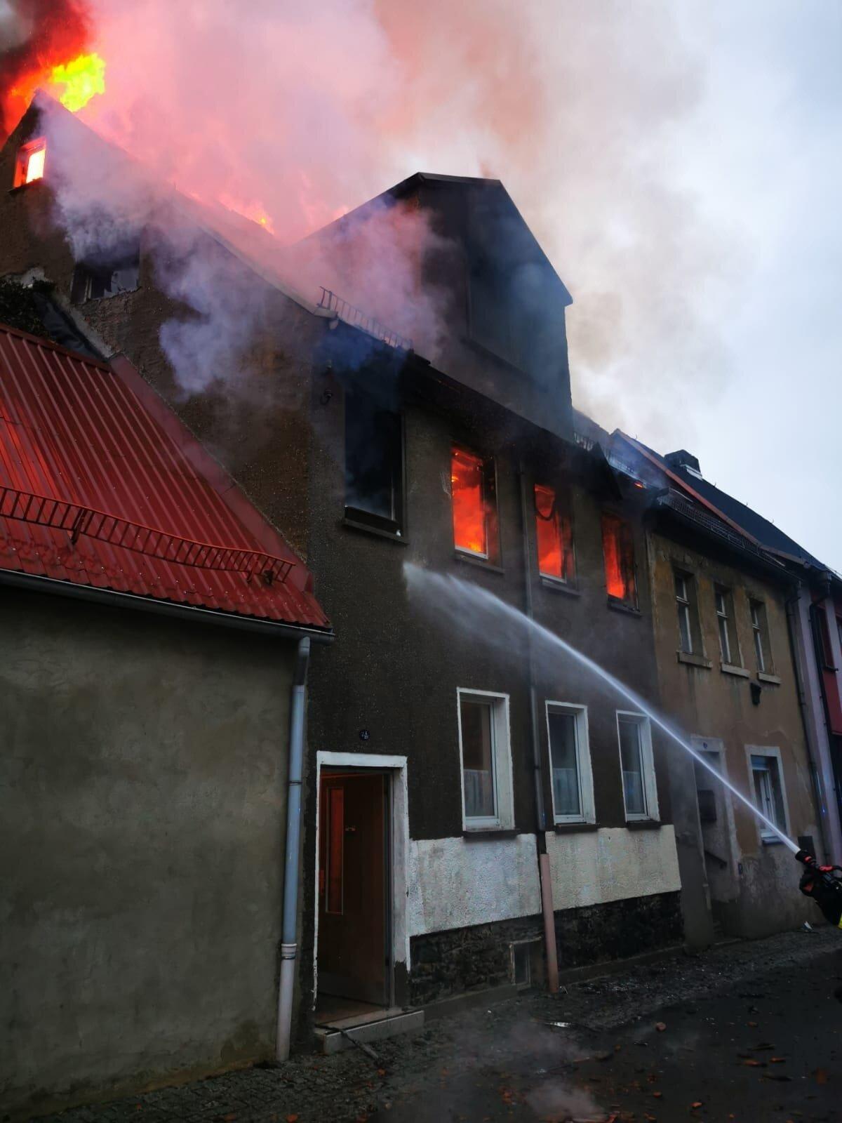Großbrand Ronneburg