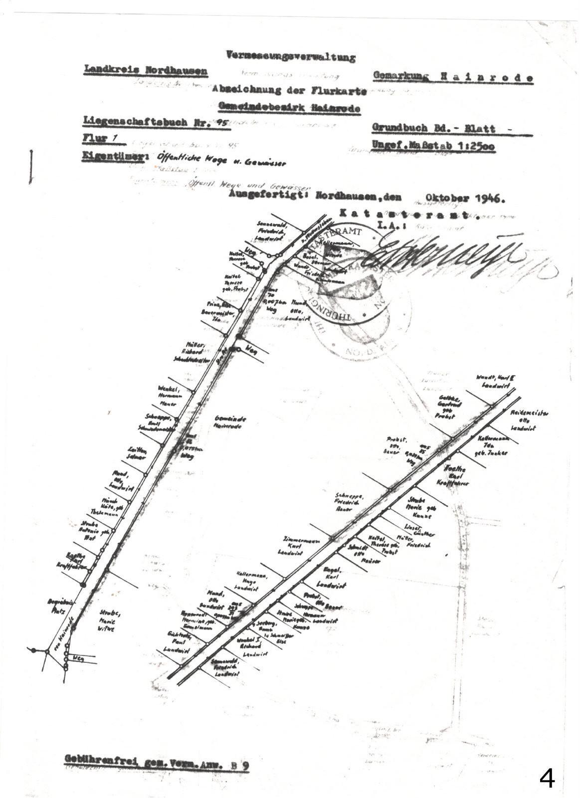 Flurkarte 1946