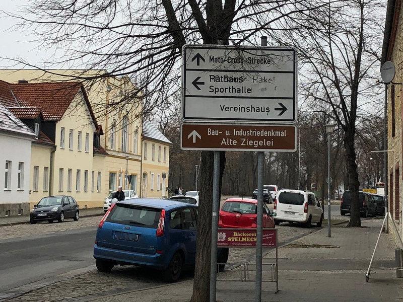 Blick auf den zukünftigen Kreisverkehr
