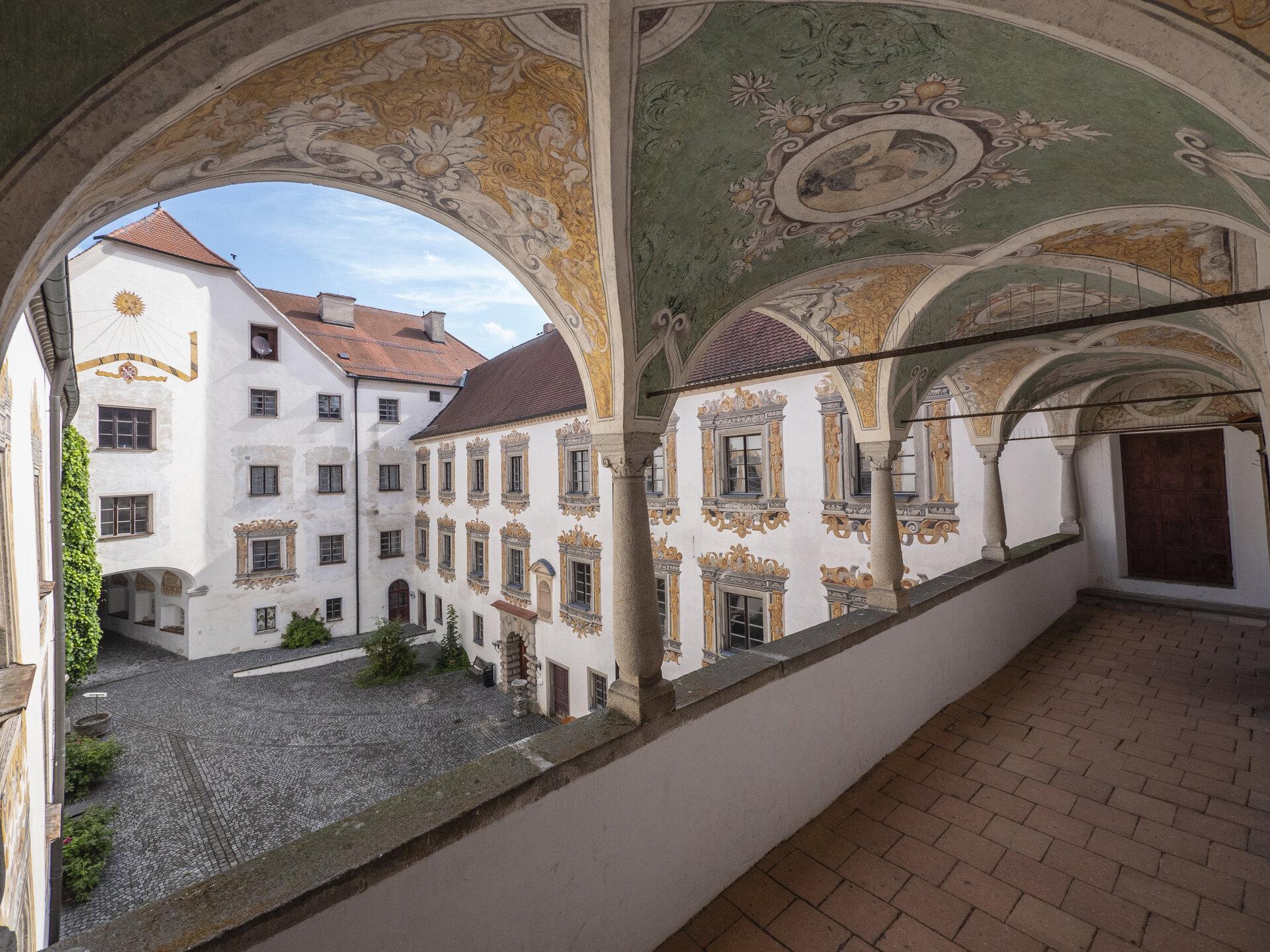 Sektempfang Innenhof